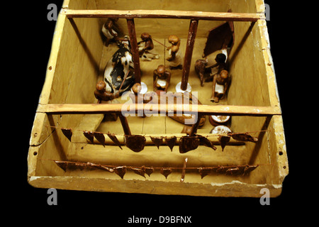 Granary, Dynasty 11, c. 2009-1998 BC - Stock Photo