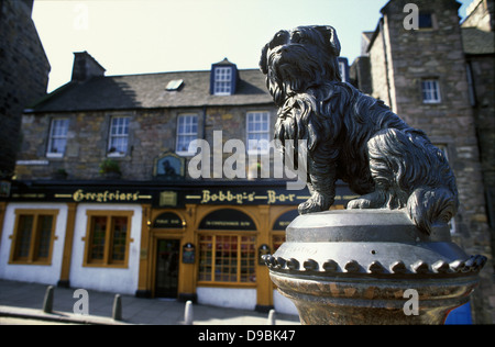 Greyfriars Kirk & Churchyard Greyfriars Bobby - Stock Photo