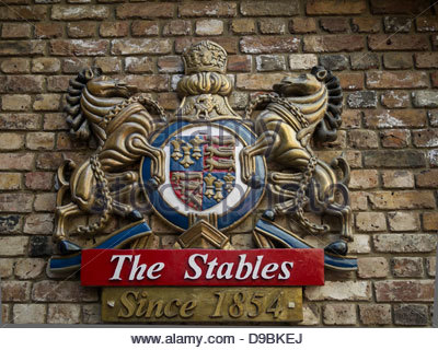Sign for Stables Market, Camden Town, London, UK - Stock Photo