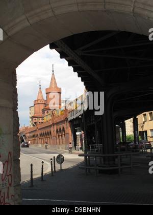 Oberbaumbrucke (bridge), Berlin, Germany. - Stock Photo