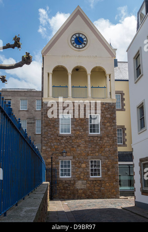 Jersey Museum, Art Gallery, Merchant House Brasserie, St. Helier, Channel Islands - Stock Photo