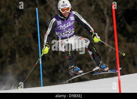 Fritz Dopfer Audi FIS Alpine Ski World Cup Kitzbühel, Austria - 25.01.12 - Stock Photo