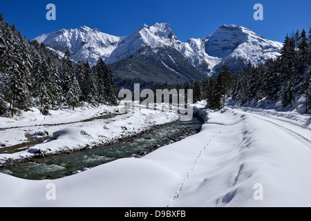 Austria, Tyrol, View of Rissbach Valley - Stock Photo