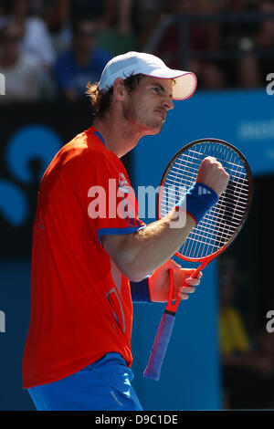 Andy Murray Andy MURRAY (Gbr) defeated Kei NISHIKORI (Jap) in three sets. Tennis - Australian Open 2012 Melbourne - Stock Photo