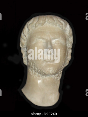 The Emperor Augustus 63BC-14AD, the first Roman emperor.  He became Gaius Julius Caesar Octavianus through adoption - Stock Photo