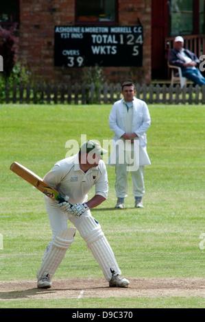 Village cricket at Ashorne, Warwickshire, UK - Stock Photo