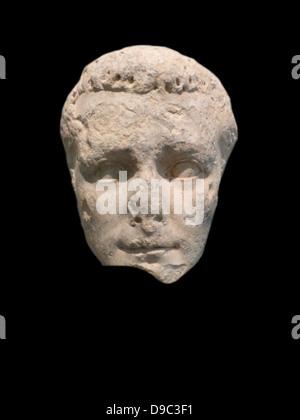 Portrait head of the emperor Caligula. Pentelic marble. Unknown provenance - Stock Photo