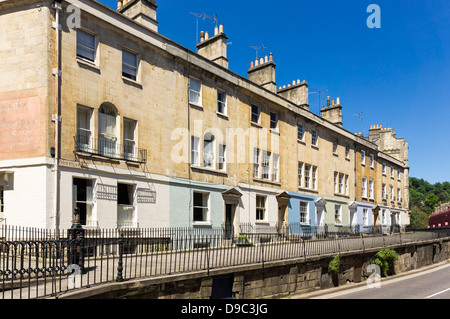 Terraced houses - terraces in Bath, Somerset, England, UK - Stock Photo