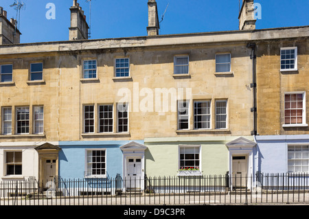 Houses in Bath, Somerset, England, UK - Stock Photo