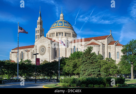 The Basilica of the National Shrine of the Immaculate Conception, Washington, D.C., USA - Stock Photo
