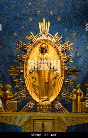 Miraculous Medal Chapel, Basilica of the National Shrine of the Immaculate Conception, Washington, DC, USA - Stock Photo