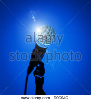 microphone starlight - Stock Photo