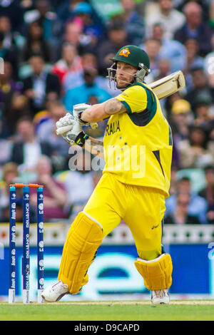 London, UK. 17th June, 2013. Matthew Wade during the ICC Champions Trophy international cricket match between Sri - Stock Photo