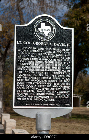 LT. COL. GEORGE A. DAVIS, JR.  One of six sons who served in the military, George A. Davis, Jr. was born in Dublin - Stock Photo