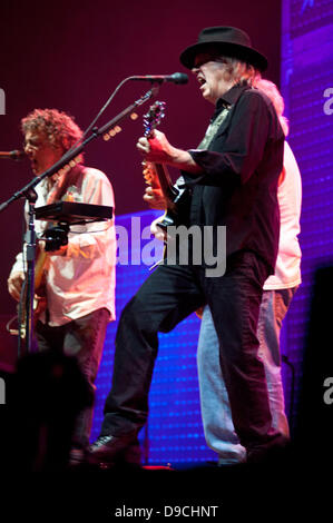 London, UK. 17th June, 2013. Neil Young & Crazy Horse perform live at the O2 Arena in London Credit:  Piero Cruciatti/Alamy - Stock Photo