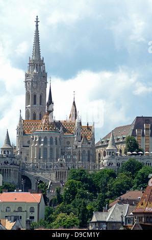 Matthias church castle hill Budapest Hungary - Stock Photo