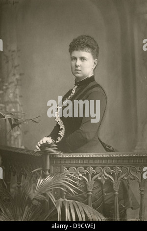 Grand Duchess Maria Alexandrovna of Russia, Duchess of Edinburgh (1852-1920) c1890.  Daughter of Alexander II, in - Stock Photo