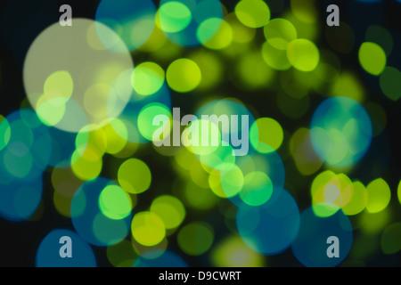 Green light dots - Stock Photo