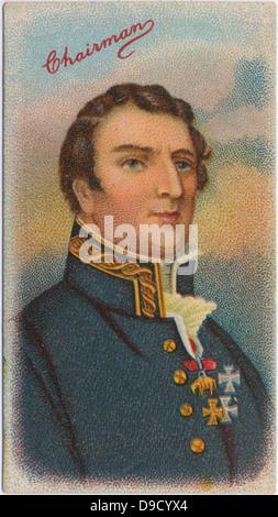 Field Marshal Arthur Wellesley, 1st Duke of Wellington (1769-1852) Anglo-Irish British soldier and statesman.  Defeated - Stock Photo