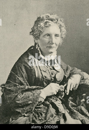 Harriet Beecher Stowe  (1811-1896) American abolitionist and author of Uncle Toms Cabin 1851-1852, a novel strongly - Stock Photo