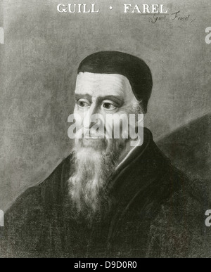 William Farel (1489-1565) French Protestant evangelist and a founder of the Reformed church. - Stock Photo