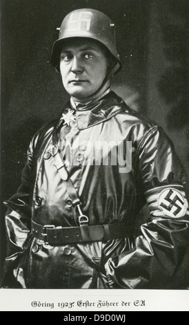 Hermann Wilhelm Goering (1893-1946) German Nazi politician in 1923 at the time of the Beer Hall Putsch. Founded - Stock Photo