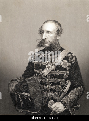 Lieut-General James Brudenell, 7th Earl of Cardigan (1797-1868), British Army cavalry officer. Led the Charge of - Stock Photo