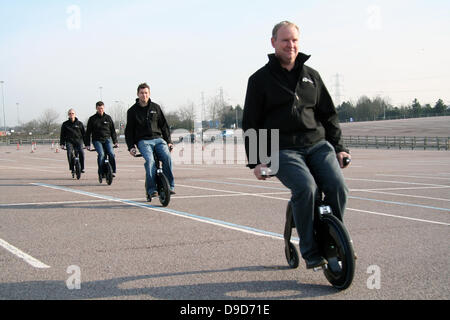 The YikeBike goes international YikeBike, the compact electric bike named by Time Magazine as one of the top inventions - Stock Photo