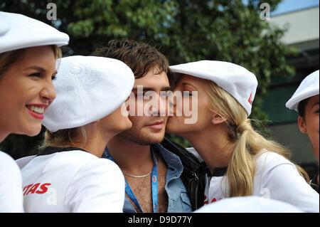 British actor, Ed Westwick, star of the US TV show Gossip Girl is attending the 2011 Formula 1 Qantas Australian - Stock Photo