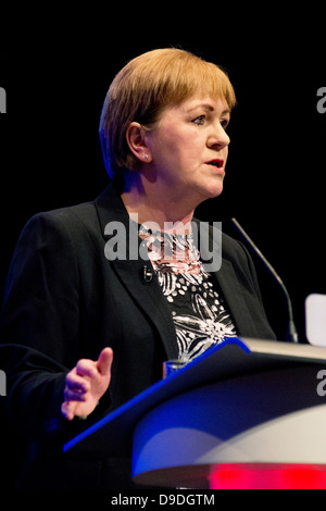 Labour Leader Johann Lamont speaks at Conference in Inverness - Stock Photo