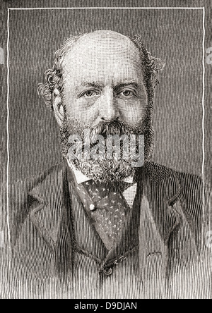 Nathan Mayer Rothschild, 1st Baron Rothschild, Baron de Rothschild, 1840 –1915. British banker and politician. - Stock Photo