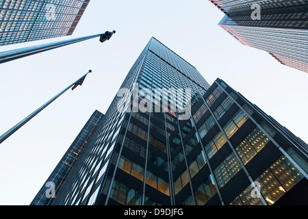 View of skyscrapers from below - Stock Photo