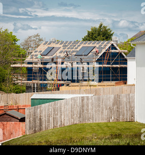 New 'executive' style suburban houses being built, Ceredigion west wales UK - Stock Photo