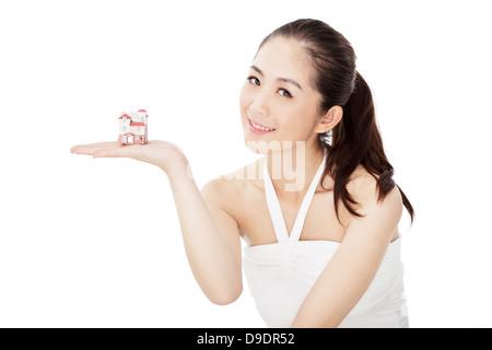 Young female fashion model - Stock Photo