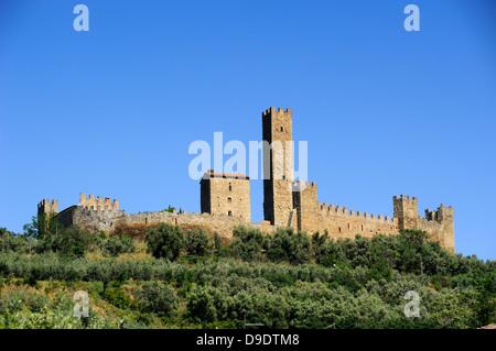 italy, tuscany, castiglion fiorentino, montecchio, medieval castle - Stock Photo