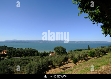 italy, umbria, trasimeno lake, castiglione del lago - Stock Photo