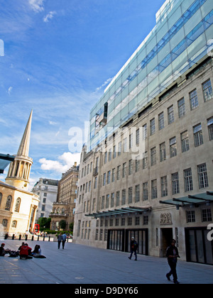 BBC Broadcasting House, Langham Place, City of Westminster, London, England, United Kingdom - Stock Photo