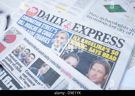 DAILY EXPRESS UK press newspaper front page headlines - Stock Photo