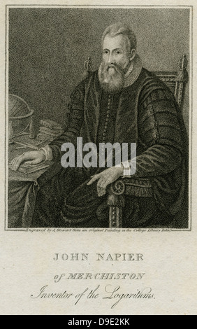 John Napier (1550-1617) Scottish mathematician. - Stock Photo