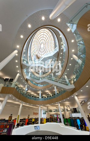 Uk, Liverpool, central Library, New Atrium completed 2013 - Stock Photo