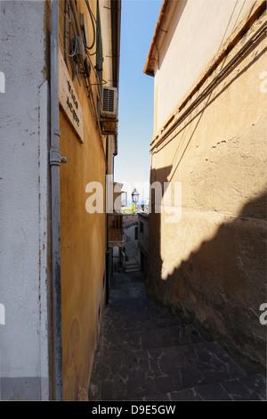 Alley fishermen, Pizzo Calabro,Calabria,Italy - Stock Photo