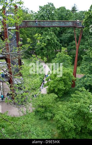 Xstrata Treetop Walkway, Kew Royal Botanic Gardens, London, UK - Stock Photo