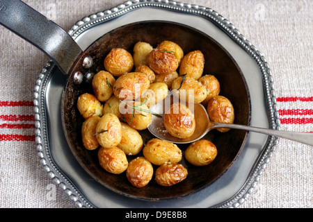 Roast potatoes - Stock Photo