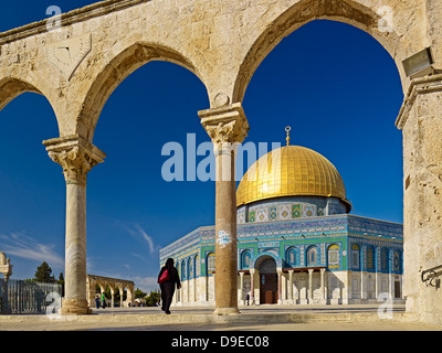 Dome of the Rock on the Temple Mount in Jerusalem, Israel - Stock Photo