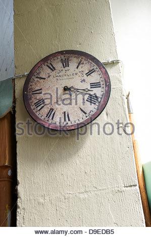 Clock in Market in Bath in Somerset , England, UK - Stock Photo