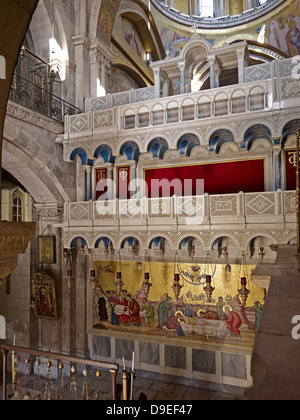 Church of Holy Sepulchre on Golgotha in Jerusalem, Israel - Stock Photo