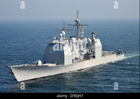 The Ticonderoga-class guided-missile cruiser USS Shiloh. - Stock Photo