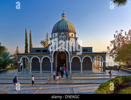 Church of the Beatitudes at the Sea of Galilee, Israel - Stock Photo