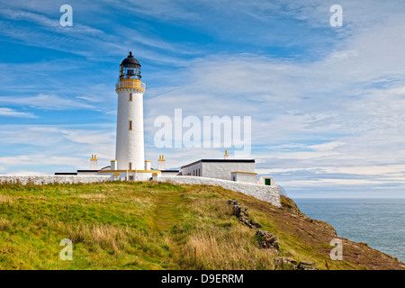 The lighthouse at the Mull of Galloway, the most southerly point of Scotland. - Stock Photo