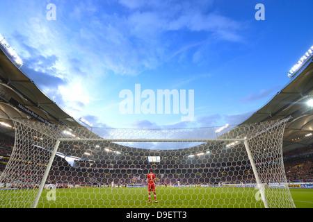 behind the goal,  Sven ULREICH VfB Stuttgart, Mercedes-Benz Arena, Stuttgart, Baden-Wurttemberg, Germany, Europe - Stock Photo